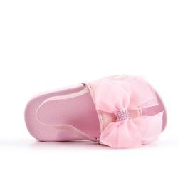 Zapatilla de niña rosa con lazo