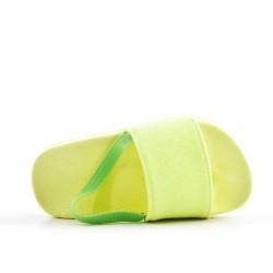 Claquette fille jaune en simili cuir pailleté
