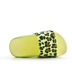 Estampado leopardo piel imitación piel amarillo