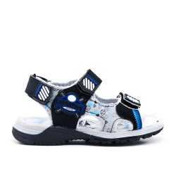 Boy sandal with comfort sole