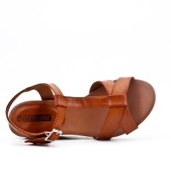 Wedge sandal Camel