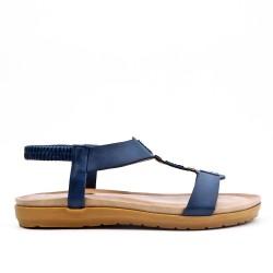 Sandalia plana blue en piel sintética
