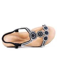 Disponible en 3 colores - sandalia plana con pedrería