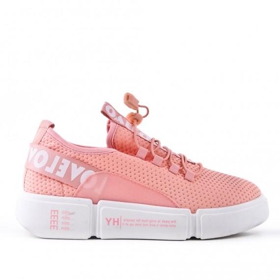 Pink canvas basket