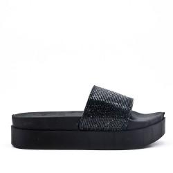 Pizarra de strass negro con plataforma