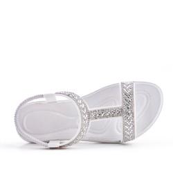 Sandale blanche orné de strass