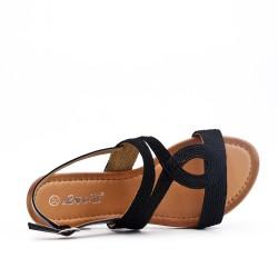 Sandalia plana negro