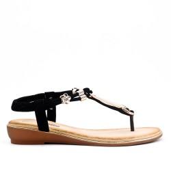 Sandale Tong noire à bijoux