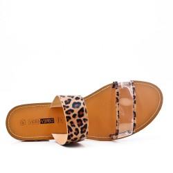 Claquette imprimé léopard