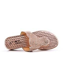 Pizarra oro decorada con diamantes de imitación