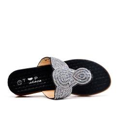 Pizarra negra decorada con diamantes de imitación
