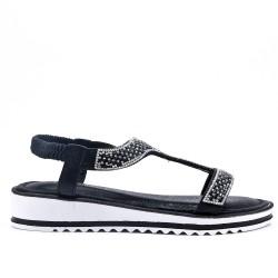 Sandale noire orné de strass
