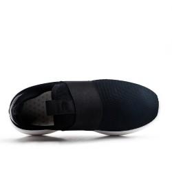Basket noire en textile extensible à enfiler