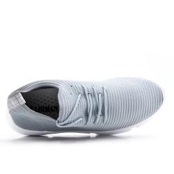 Basket grise en textile extensible à lacet