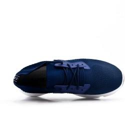 Zapatilla blue en tejido con cordones