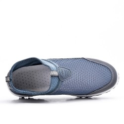 Chaussure sport grise à enfiler