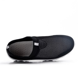 Chaussure sport noire à enfiler