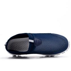 Chaussure sport bleu à enfiler