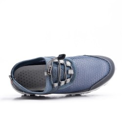 Zapato con cordones gris