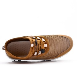 Camel lace up shoe