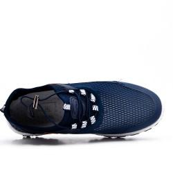 Chaussure sport bleu à lacet