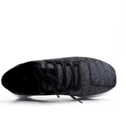 Cesto textil de encaje elástico negro