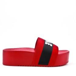 Listón rojo con plataforma