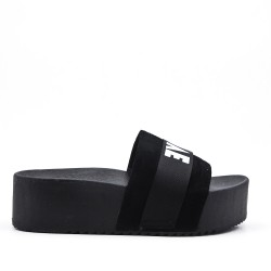 Black slat with platform