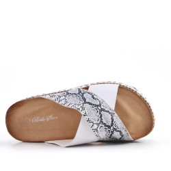 Snowshoe snake print faux leather