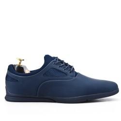 Chaussure bleu à lacet
