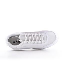 Zapatilla blanco con encaje